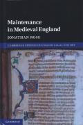 Cover of Maintenance in Medieval England