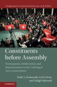 Cover of Constituents Before Assembly: Participation, Deliberation, and Representation in the Crafting of New Constitutions