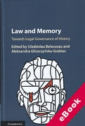 Cover of Law and Memory: Towards Legal Governance of History (eBook)
