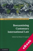 Cover of Reexamining Customary International Law (eBook)