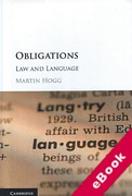 Cover of Obligations: Law and Language (eBook)