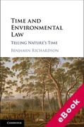 Cover of Time and Environmental Law: Telling Nature's Time (eBook)