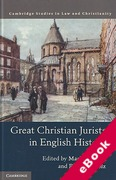 Cover of Great Christian Jurists in English History (eBook)