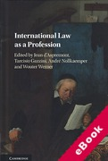 Cover of International Law as a Profession (eBook)
