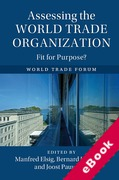 Cover of Assessing the World Trade Organization: Fit for Purpose? (eBook)