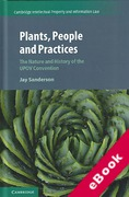 Cover of Plants, People and Practices: The Nature and History of the Upov Convention (eBook)