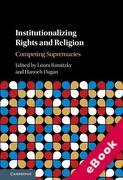 Cover of Institutionalizing Rights and Religion: Competing Supremacies (eBook)
