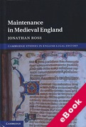 Cover of Maintenance in Medieval England (eBook)