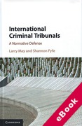Cover of International Criminal Tribunals: A Normative Defense (eBook)