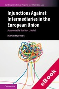 Cover of Injunctions Against Intermediaries in the European Union: Accountable but Not Liable? (eBook)