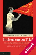 Cover of Incitement on Trial: Prosecuting International Speech Crimes (eBook)