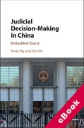 Cover of Judicial Decision-Making in China: Embedded Courts (eBook)