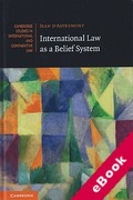 Cover of International Law as a Belief System (eBook)