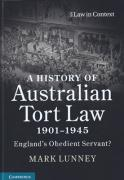 Cover of A History of Australian Tort Law 1901-1945: England's Obedient Servant?