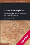 Cover of Economic Transplants: On Law-Making for Financial Markets (eBook)