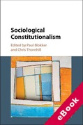 Cover of Sociological Constitutionalism (eBook)