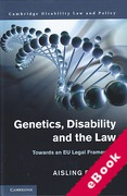 Cover of Genetics, Disability, and the Law: Towards an EU Legal Framework (eBook)