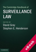 Cover of The Cambridge Handbook of Surveillance Law (eBook)