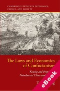 Cover of The Laws and Economics of Confucianism: Kinship and Property in Preindustrial China and England (eBook)