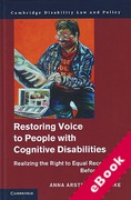 Cover of Restoring Voice to People with Cognitive Disabilities: Realizing the Right to Equal Recognition Before the Law (eBook)