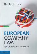 Cover of European Company Law: Text, Cases and Materials