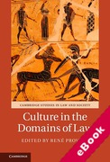 Cover of Culture in the Domains of Law (eBook)