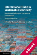 Cover of International Trade in Sustainable Electricity: Regulatory Challenges in International Economic Law (eBook)