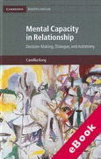 Cover of Mental Capacity in Relationship: Decision-Making, Dialogue, and Autonomy (eBook)