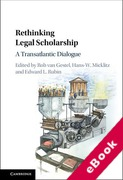 Cover of Rethinking Legal Scholarship: A Transatlantic Dialogue (eBook)