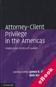 Cover of Attorney-Client Privilege in the Americas: Professional Secrecy of Lawyers (eBook)