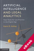 Cover of Artificial Intelligence and Legal Analytics: New Tools for Law Practice in the Digital Age (eBook)