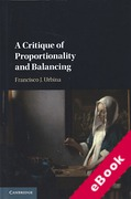 Cover of A Critique of Proportionality and Balancing (eBook)