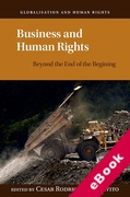 Cover of Business and Human Rights: Beyond the End of the Beginning (eBook)