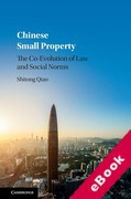 Cover of Chinese Small Property: The Co-Evolution of Law and Social Norms (eBook)