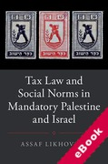 Cover of Tax Law and Social Norms in Mandatory Palestine and Israel (eBook)