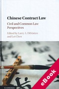 Cover of Chinese Contract Law: Civil and Common Law Perspectives (eBook)