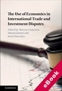 Cover of The Use of Economics in International Trade and Investment Disputes (eBook)