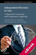 Cover of Independent Directors in Asia: A Historical, Contextual and Comparative Approach (eBook)