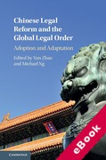 Cover of Chinese Legal Reform and the Global Legal Order: Adoption and Adaptation (eBook)