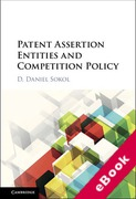 Cover of Patent Assertion Entities and Competition Policy (eBook)