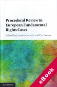 Cover of Procedural Review in European Fundamental Rights Cases (eBook)