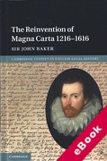 Cover of The Reinvention of Magna Carta 1216-1616 (eBook)