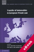 Cover of Transfer of Immovables in European Private Law (eBook)