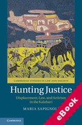 Cover of Hunting Justice: Displacement, Law, and Activism in the Kalahari (eBook)