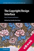 Cover of The Copyright/Design Interface: Past, Present and Future (eBook)