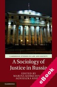 Cover of A Sociology of Justice in Russia (eBook)