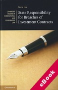 Cover of State Responsibility for Breaches of Investment Contracts (eBook)