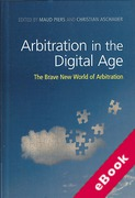 Cover of Arbitration in the Digital Age: The Brave New World of Arbitration (eBook)
