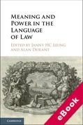 Cover of Meaning and Power in the Language of Law (eBook)