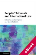 Cover of Peoples' Tribunals and International Law (eBook)